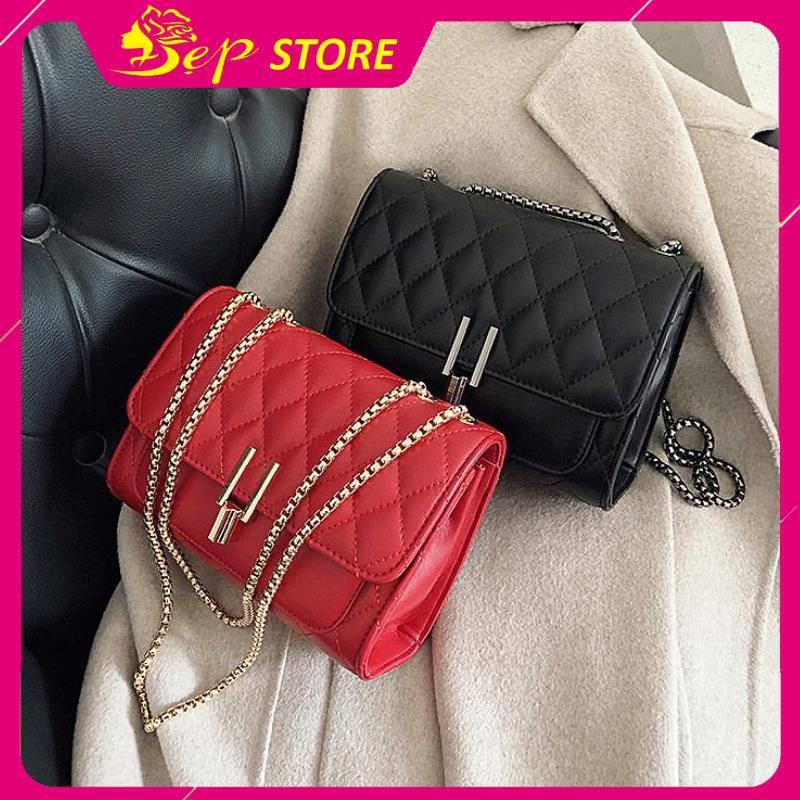 Túi xách đeo chéo nữ - Túi xách nữ phong cách Hàn Quốc khóa STA13  - ĐẸP BOUTIQUE