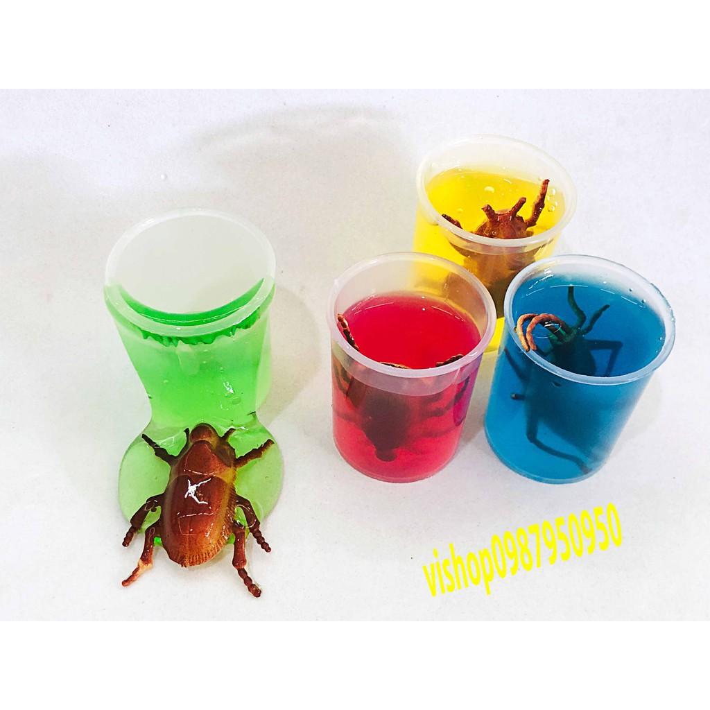 đồ chơi slime sâu bọ côn trùng - lọ slime dẻo mã DXQ1 Jsale off