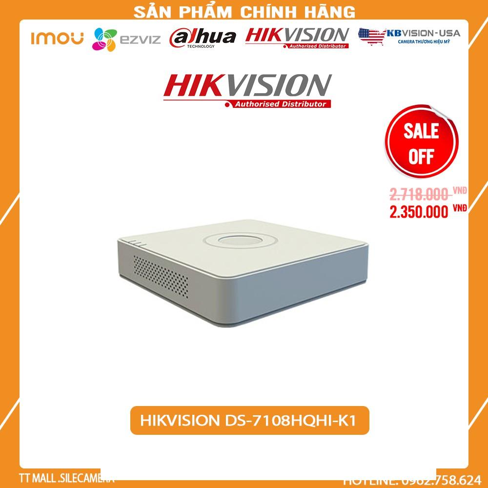Đầu ghi hình 8 kênh TVI Hikvision DS-7108HQHI-K1 vỏ nhựa 2MP