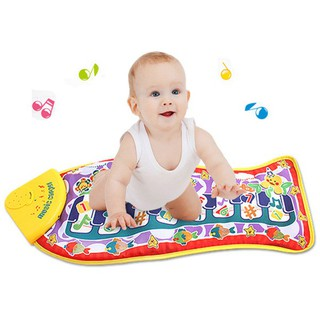 × Fish Shape Touch Piano Toy Music Creative Carpet Early Educational Toy for