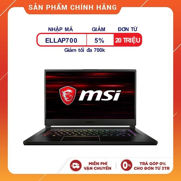 [Trả góp 0%]Laptop MSI GS65 8RE-242VN Stealth Thin (i7-8750H,15'6 inches)-Tặng Chuột MSI+Tấm lót+Móc khoá