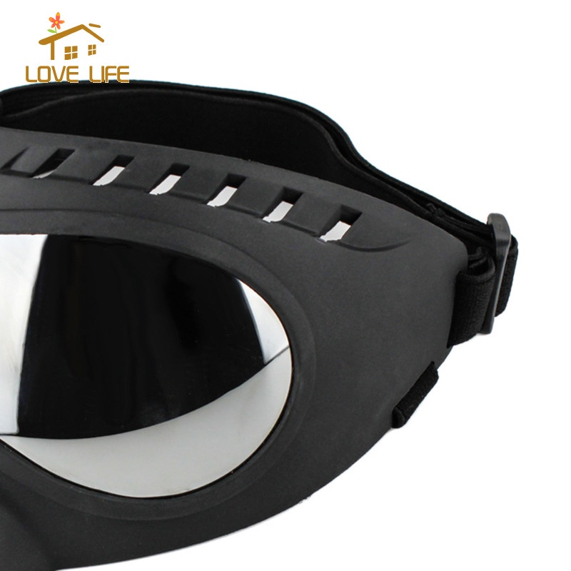 [whfashion] Dog Sunglasses Goggles Wind Protection Glasses Eye Wear with Adjustable Strap for Outdoor Activities