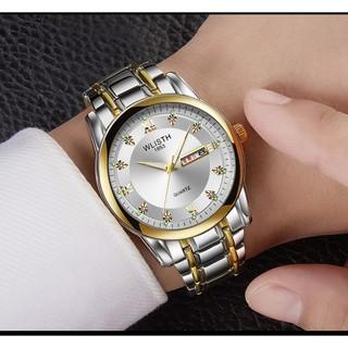 Đồng hồ nam Wlisth dây thép sang trọng thumbnail