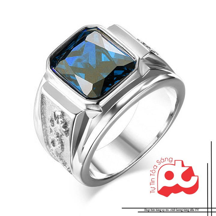 FASHIONMP nhẫn nam inox rồng trắng đá xanh 039 - 2667970 , 676553345 , 322_676553345 , 132000 , FASHIONMP-nhan-nam-inox-rong-trang-da-xanh-039-322_676553345 , shopee.vn , FASHIONMP nhẫn nam inox rồng trắng đá xanh 039
