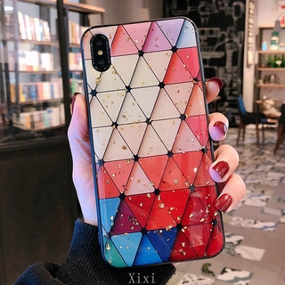 Casing OPPO A93 A73 2020 A15 A15s A53 A52 A92 A91 A31 A9 2020 A5 A12 A12e A7 A5s A3s F9Pro F11 Lingge Texture Grid Pattern Bling Case