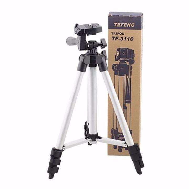 Gậy chụp ảnh 3 chân Tripod 3110 có kẹp điện thoại 3 chân kéo dài cao 1020mm giá đỡ chụp hình điện thoại máy ảnh tiện lợi