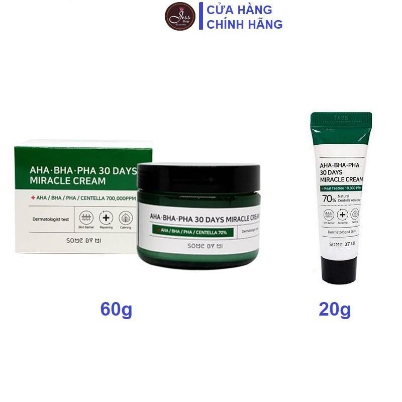 Kem Dưỡng Da Some By Mi AHA-BHA-PHA 30 Days Miracle Cream 20g và 60g