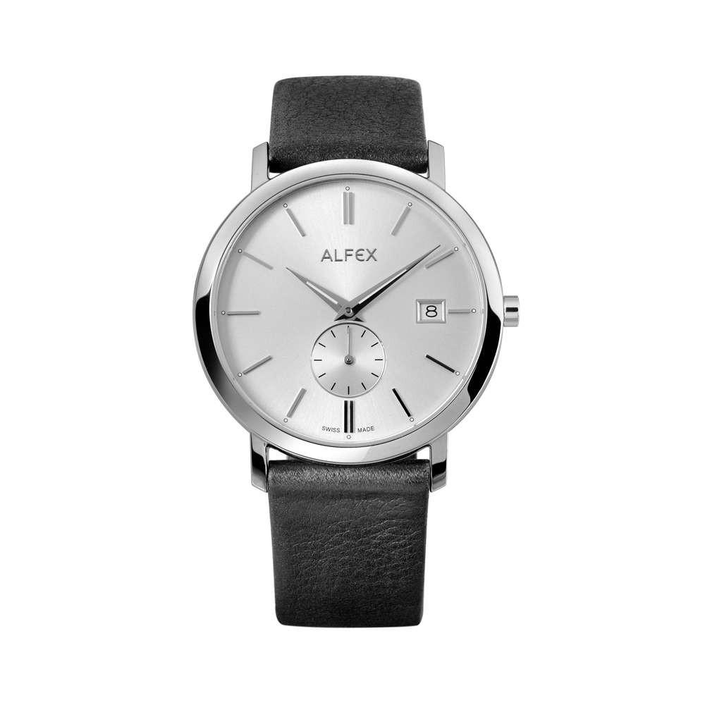 Đồng Hồ Alfex 5703/306 Nam Kính Sapphire Dây Da 39mm