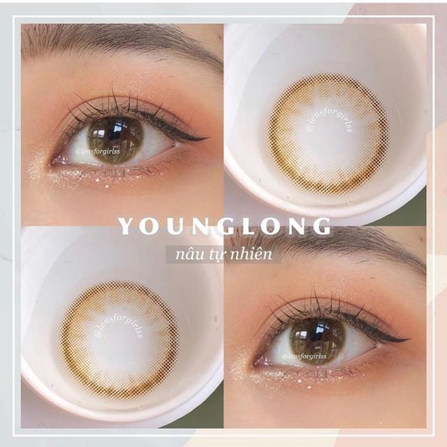 Young brown lens ( kính áp tròng )