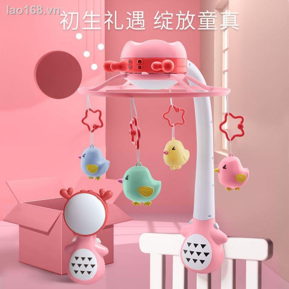 brain game☎☏✺(bed bell) touch bed bell with music rotating children 0-1 year old light puzzle