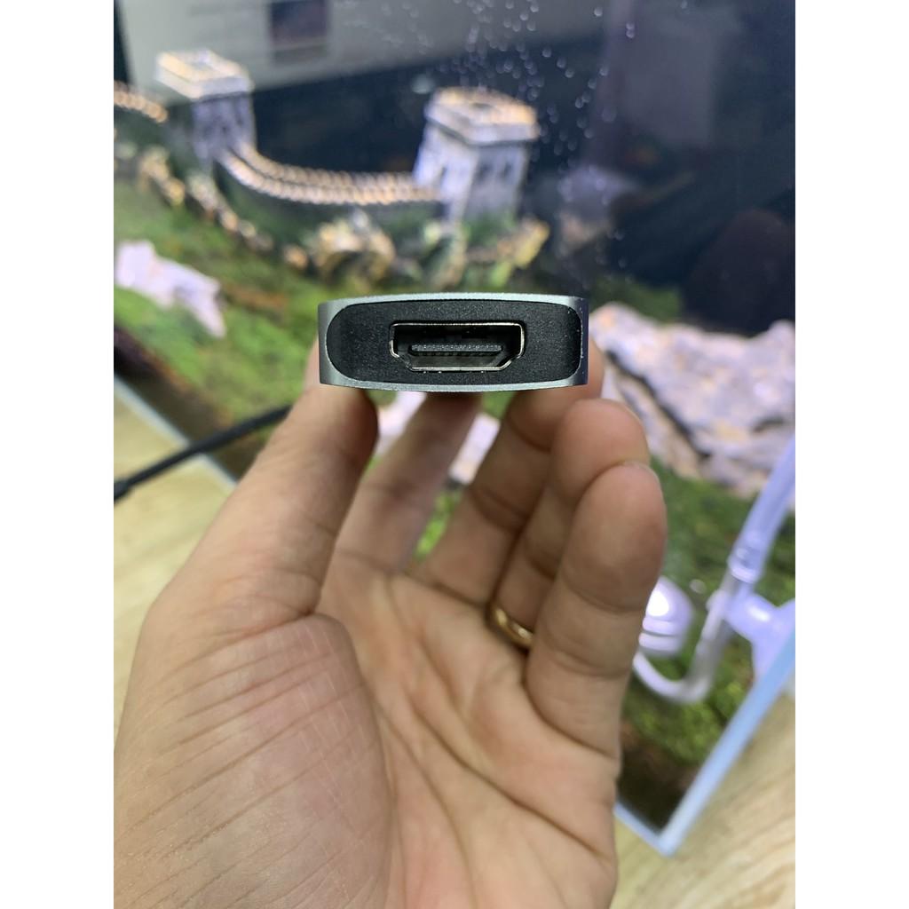 Cáp Chuyển USB Type C to HDMI + 3 USB 3.0 + SD Card Reader + TF Card Earldom W18 - Hàng Chính Hãng