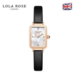 Đồng hồ nữ Lolarose mặt vuông trắng xà cừ vỏ ngọc trai cao cấp, dây da bò mềm mại thoát hơi tốt bảo hành 2 năm LR2182 thumbnail