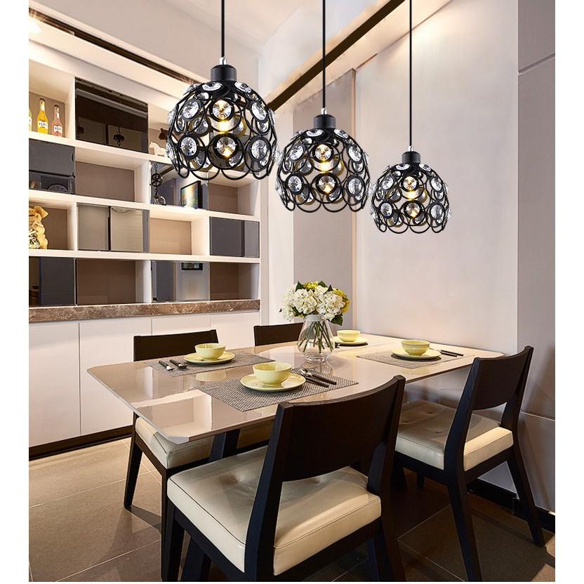 Bộ đèn thả ALION treo trần trang trí độc đáo - kèm bóng LED và đế ốp trần
