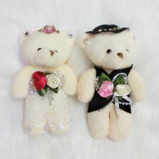 Gấu cô dâu chú rể 10 cm trang trí tiêc cưới