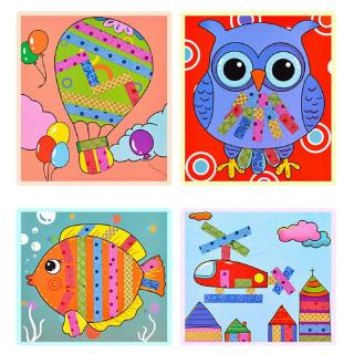 DE❀ Kids Paste Painting Set Children Handmade DIY Colored Tape Stickers