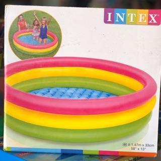 Bể bơi Intex cầu vồng 3 tầng cho bé