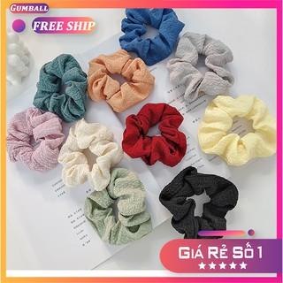 Dây Buộc Tóc [ Giá Rẻ ] Dây Thun Cột Tóc Scrunchies Trơn Vải Đũi Đẹp Xinh Đáng Yêu