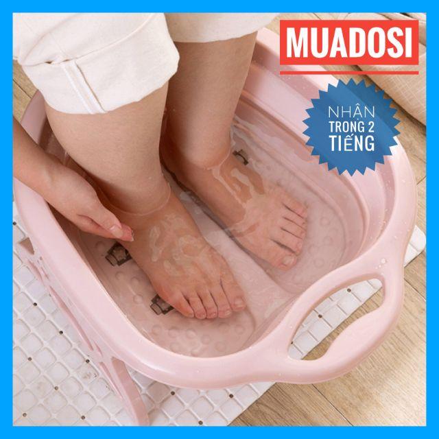 HCM - [Size Lớn] Thau Chậu Ngâm Chân Massage Chân Gấp Gọn