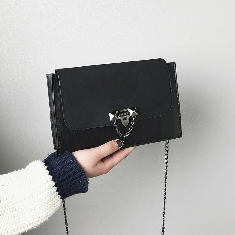 Túi xách nữ, túi đeo chéo thời trang phong cách Hàn quốc HQ 03 ( ĐEN) - Siêu thị giá tôt 247