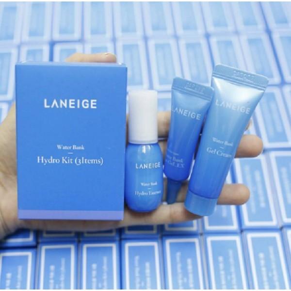 Bộ Kit Dưỡng ẩm Laneige Water Bank Hydro 3 sản phẩm