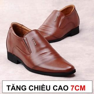 Giày Tăng Chiều Cao Nam Bảo Ngọc Cao Ẩn 7cm Kín Đáo Bí Mật Từ Bên Trong Bảo Hành Nổ Da 2 Năm Mã TC126 thumbnail