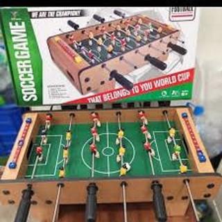 (GIẢM CỰC SỐC) Trò chơi bóng đá mini bằng chất liệu gỗ siêu đẹp, 6 tay cầm bằng gỗ, có độ bền cực cao dành cho bé trai