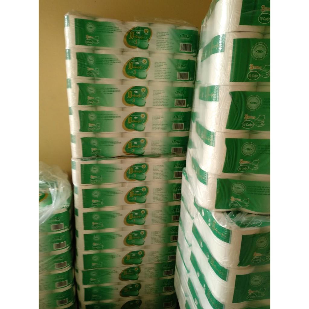 Giấy vệ sinh Hà Nội 3 lớp siêu dai, 10 c