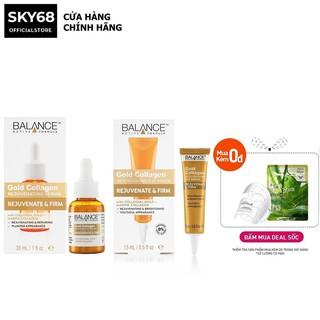 Combo serum dưỡng da mặt và vùng mắt Balance Gold Collagen