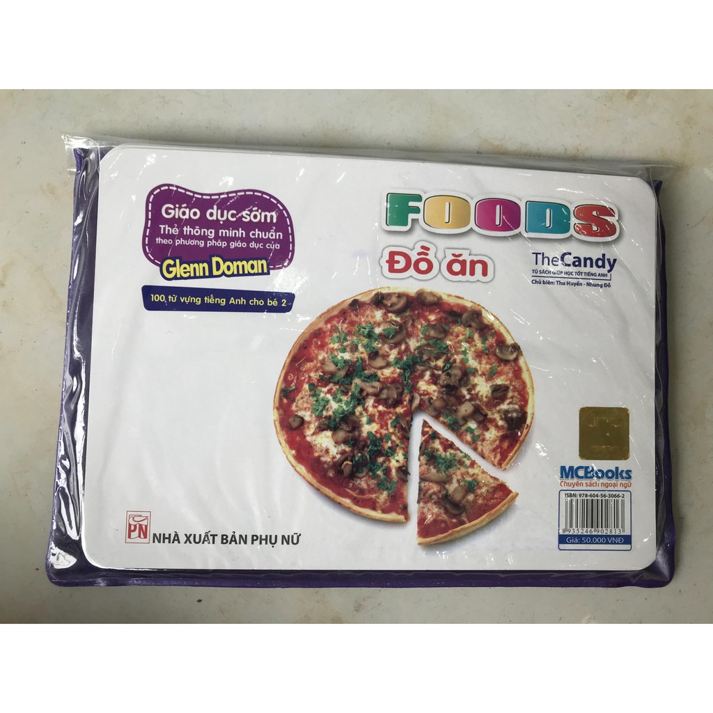 Giáo dục sớm- thẻ thông minh chuẩn theo phương pháp giáo dục của Glenn Doman - đồ ăn