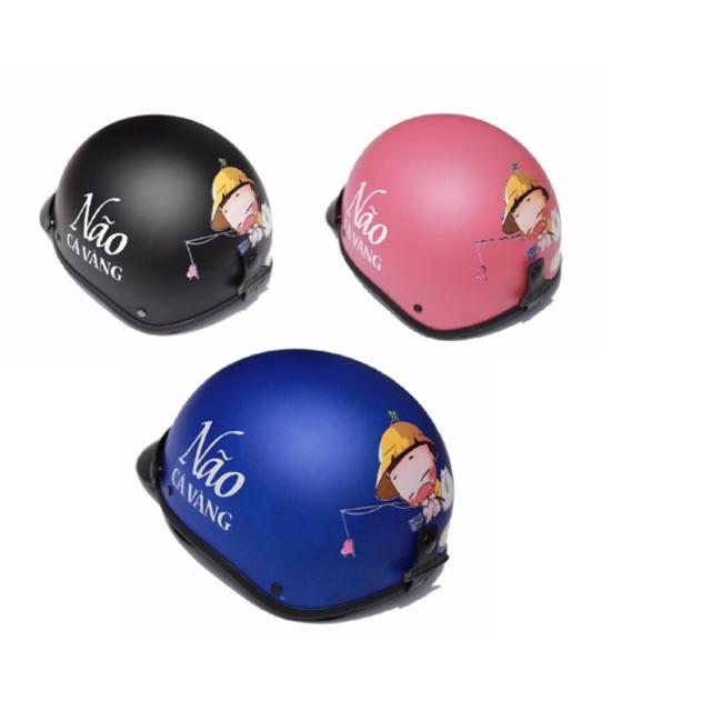 Mũ bảo hiểm 1/2 nhiều mẫu lựa chọn (KHÔNG kèm kính )