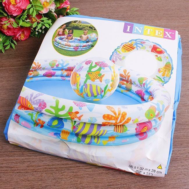 Bể bơi INTEX 3 tầng 3 chi tiết cho bé (Màu ngẫu nhiên)