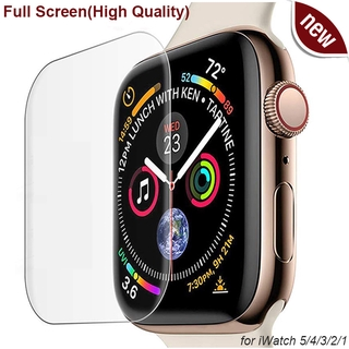 Kính cường lực trong suốt bo cạnh cho iWatch 5 4 3 2 1 for Apple Watch 40MM 44MM 38mm 42mm