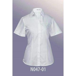 Áo trắng Thái Hòa tay ngắn N047-01