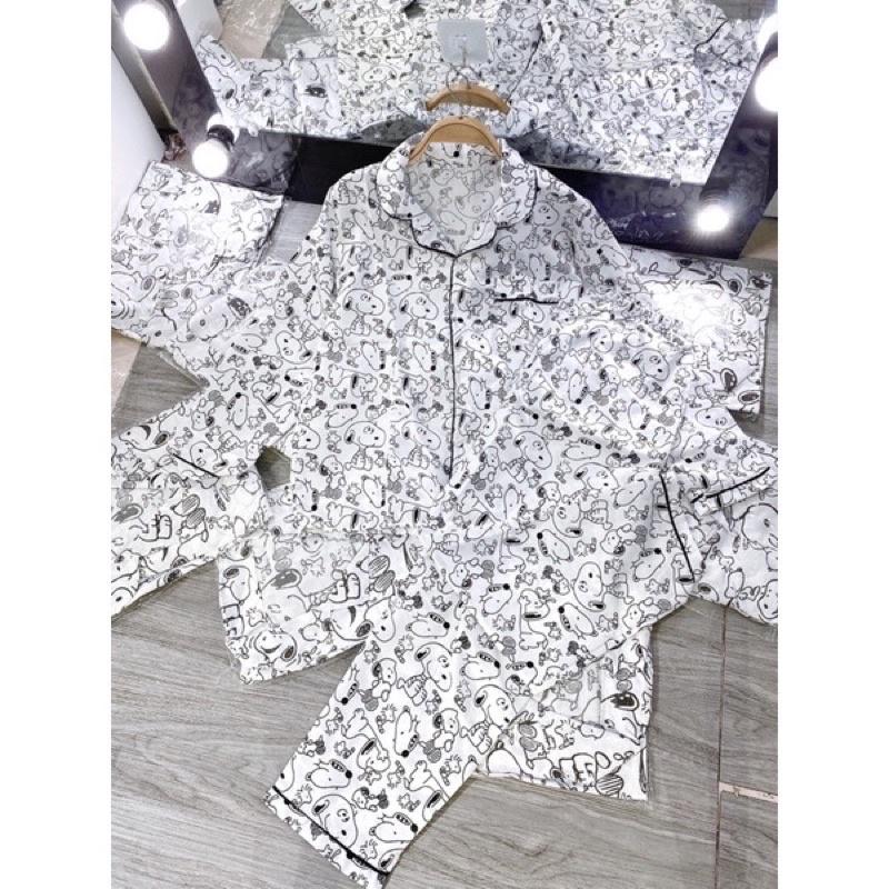 Mặc gì đẹp: Mát mẻ với [Mã 1010FASHIONSALE33 giảm 10K đơn 50K] [RẺ VÔ ĐỊCH Pizama tay dài quần dài(Đồ ngủ pijama dễ thương)
