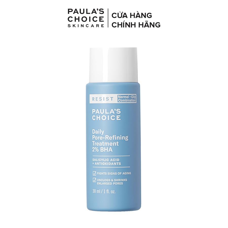 Dung dịch tẩy da chết và thu nhỏ lỗ chân lông Paula's Choice Resist Daily Pore Refining Treatment 2% BHA 30ml mã 7827