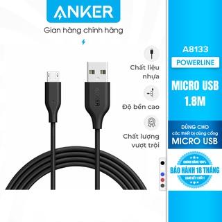 Cáp sạc ANKER PowerLine Micro USB Dài 1.8m - A8133 thumbnail