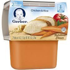 Thức ăn nghiền Gerber 2nd cho bé vị gà & rau củ