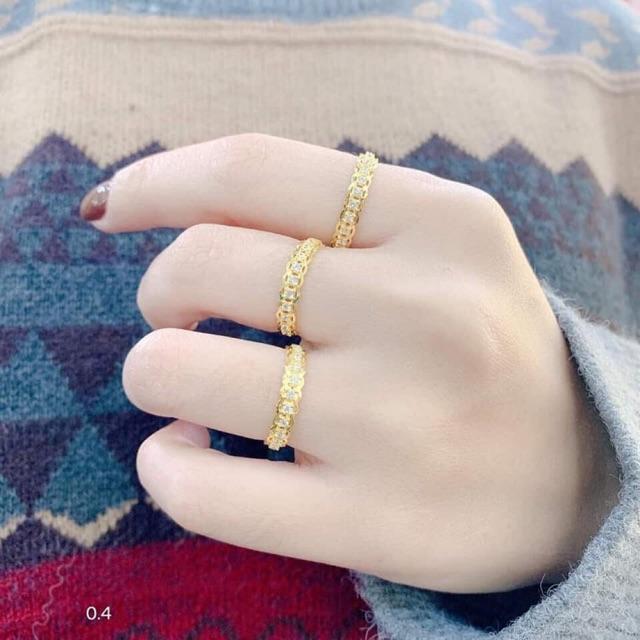 Nhẫn nữ tên Vàng tây.