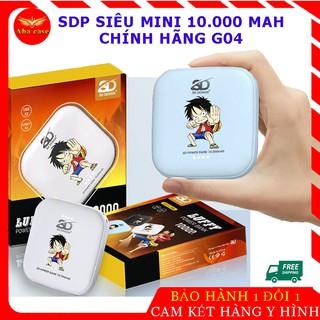 Pin Sạc Dự Phòng Chính Hãng G04 chính hãng mini, Dung Lượng 10.000 Mah, bảo hành 12 tháng, thiết kế băt mắt, có đèn pin thumbnail