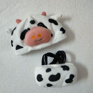 Bộ yếm bò sữa cho doll 20cm