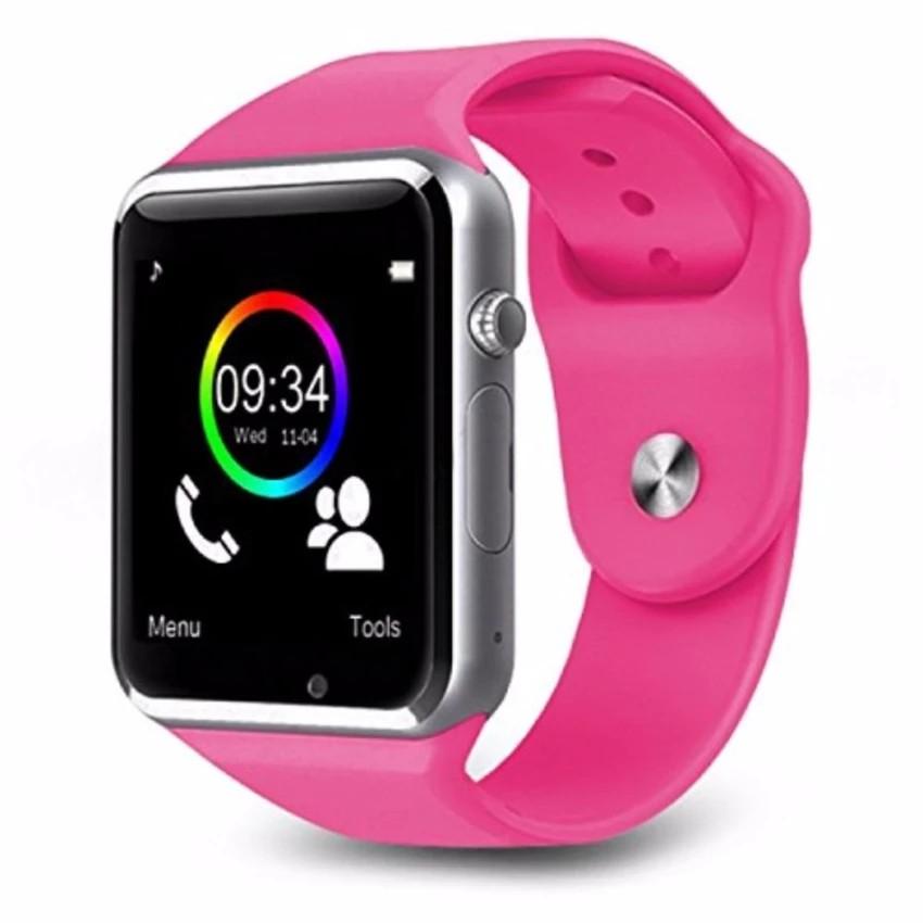Đồng hồ thông minh gắn sim độc lập a1 nghe gọi , nghe nhạc như điện thoại màu hồng cánh sen