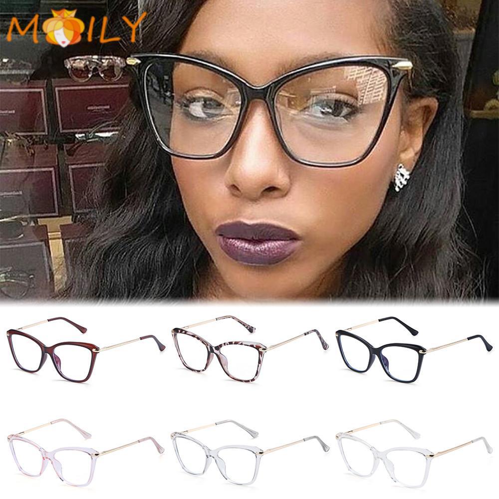 MOILY Fashion Computer Glasses Reading Gaming Glasses Eyeglasses Blue Light Blocking Glasses Women & Men Anti Eye Eyestrain Square Frame Non-Prescription Blue Light Blocking