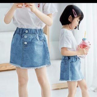 (H3)Váy bò 3 cúc cho bé gái