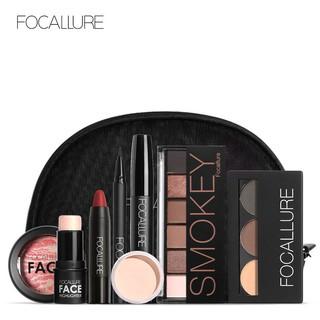 Bộ 8 sản phẩm trang điểm mặt FOCALLURE cơ bản kèm túi đựng tiện dụng