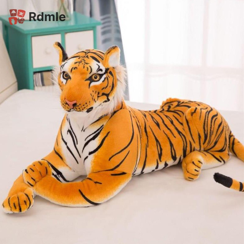 [COD]# RDMLE Cute Simulated Small Stuffed Toy Animals Tiger Calf Plush for Kids Birthdays