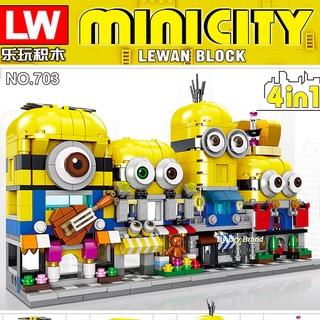 Đồ chơi lego lắp ráp minion dùng làm quà tặng sinh nhật cho bé gái thumbnail