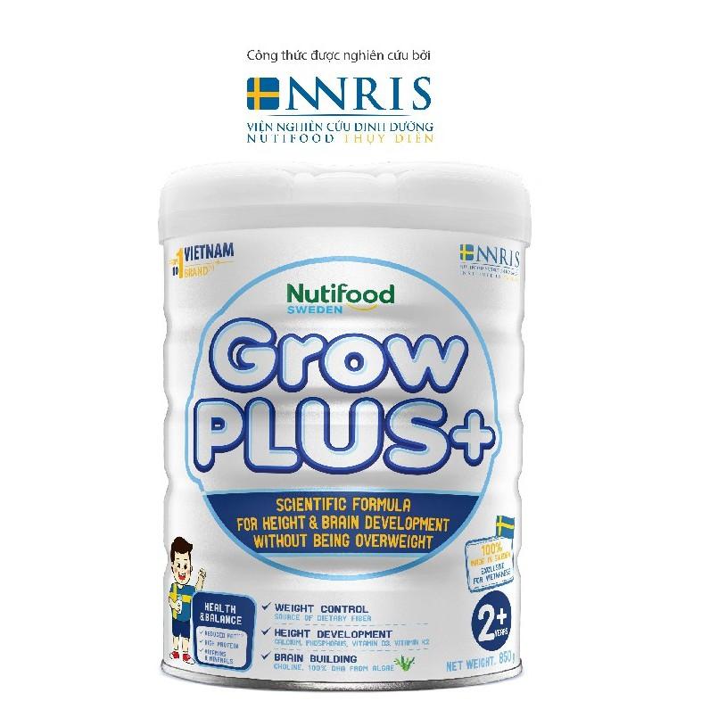 Sữa Bột Nuti GrowPLUS+ Trắng cho trẻ trên 2 tuổi 850g/lon