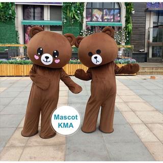 Mascot Gấu Brown cỡ đại