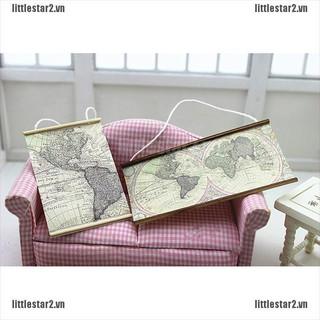 {MUV} 1:12 Dollhouse miniature map living room decoration accessories{FC}