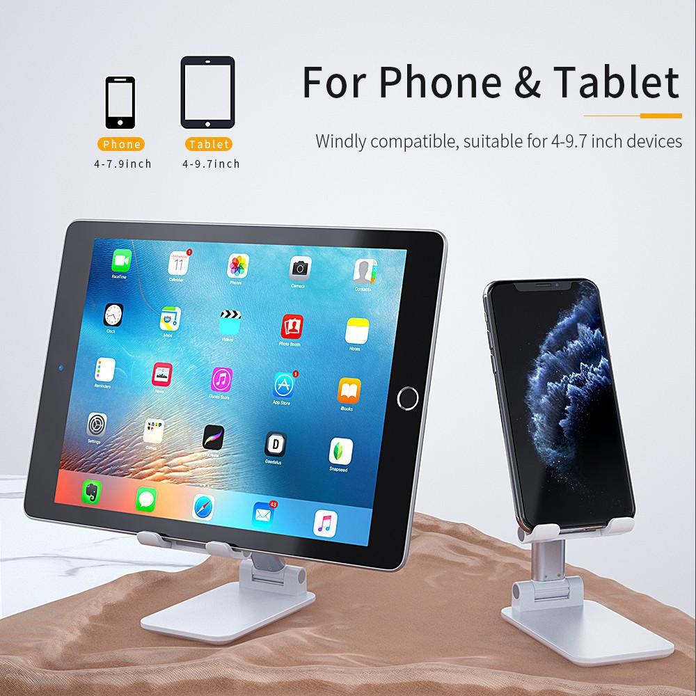 Giá đỡ điện thoại/ máy tính bảng bằng kim loại có thể gập lại tiện dụng cho ipad 5.0 ipad Pro iphone
